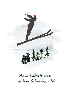 Skispringer -Winterliche Grüsse aus dem Schwarzwald