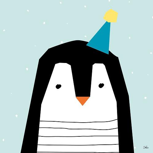 """Leinwand """"Minimal Pinguin"""""""