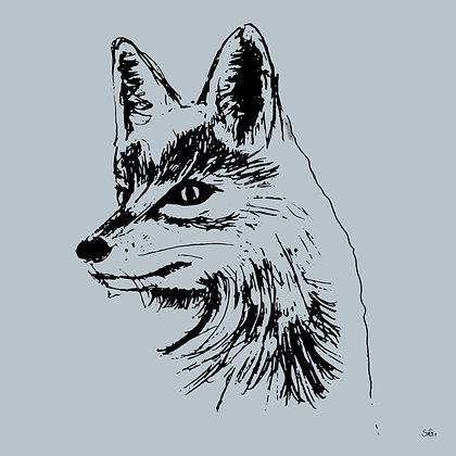 Leinwand Fuchs blau