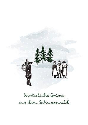 Uhrenträger-Winterliche Grüsse aus dem Schwarzwald