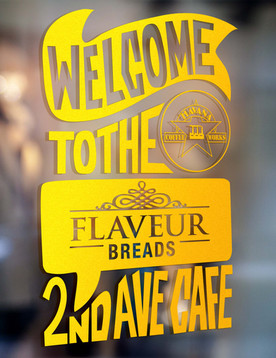 Graphic Design, illustrations and signage for Flaveur Breads