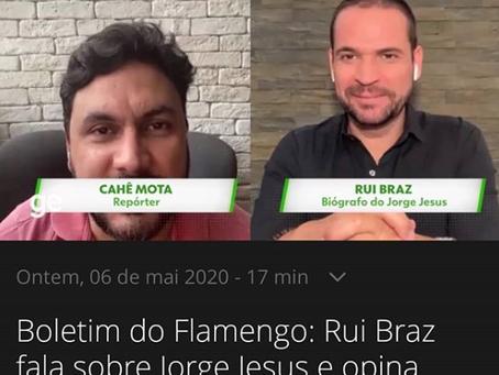 Rui Pedro Braz dá entrevista ao Globo Esporte