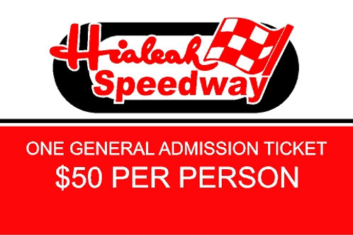 2020 Hialeah Speedway Individual Ticket