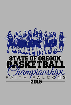 2015 GIRLS BASKETBALL STATE CHAMPIONSHIPS TEE