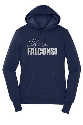 LET'S GO FALCONS GLITTER SWEATSHIRT- LST254