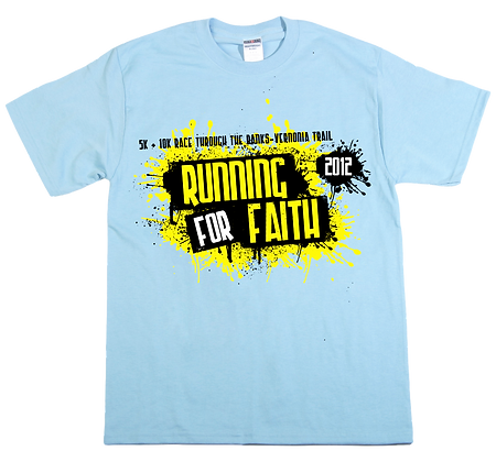 2012 RUNNING FOR FAITH SHIRT- SHORT SLEEVE