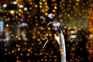 Winter wedding night photography at Morley Hayes wedding