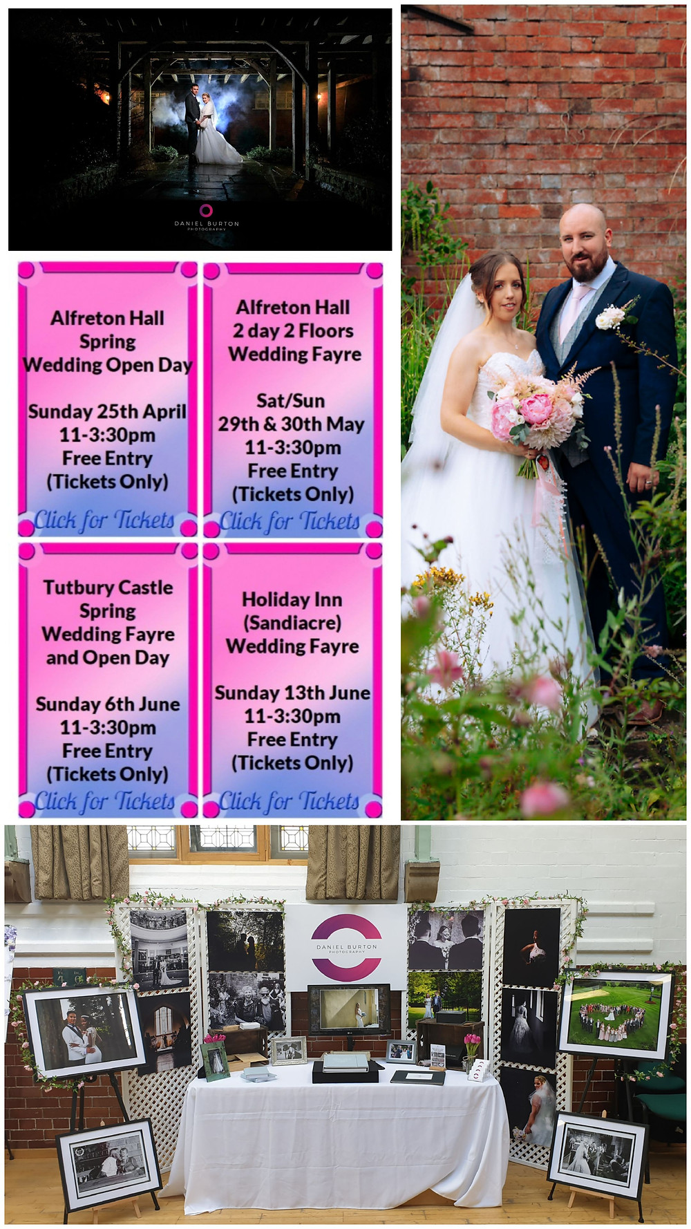 The return of wedding events - these are few coming up in the Derbyshire area