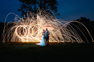 Steel wool Photography effects by Daniel Burton Photography. This wedding began at the wonderful Elvaston Castle in the Old English Gardens.