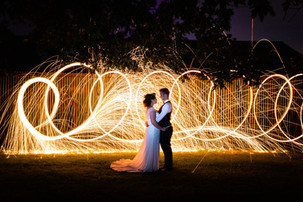 Bawdon Lodge Farm Weddings and steel wool photography effects by Daniel Burton Photography.