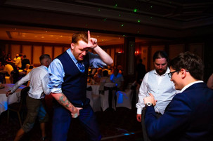 On the dancefloor at a Mickleover Court Hotel Wedding