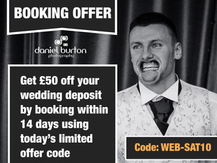 Today's £50 off Wedding Booking code