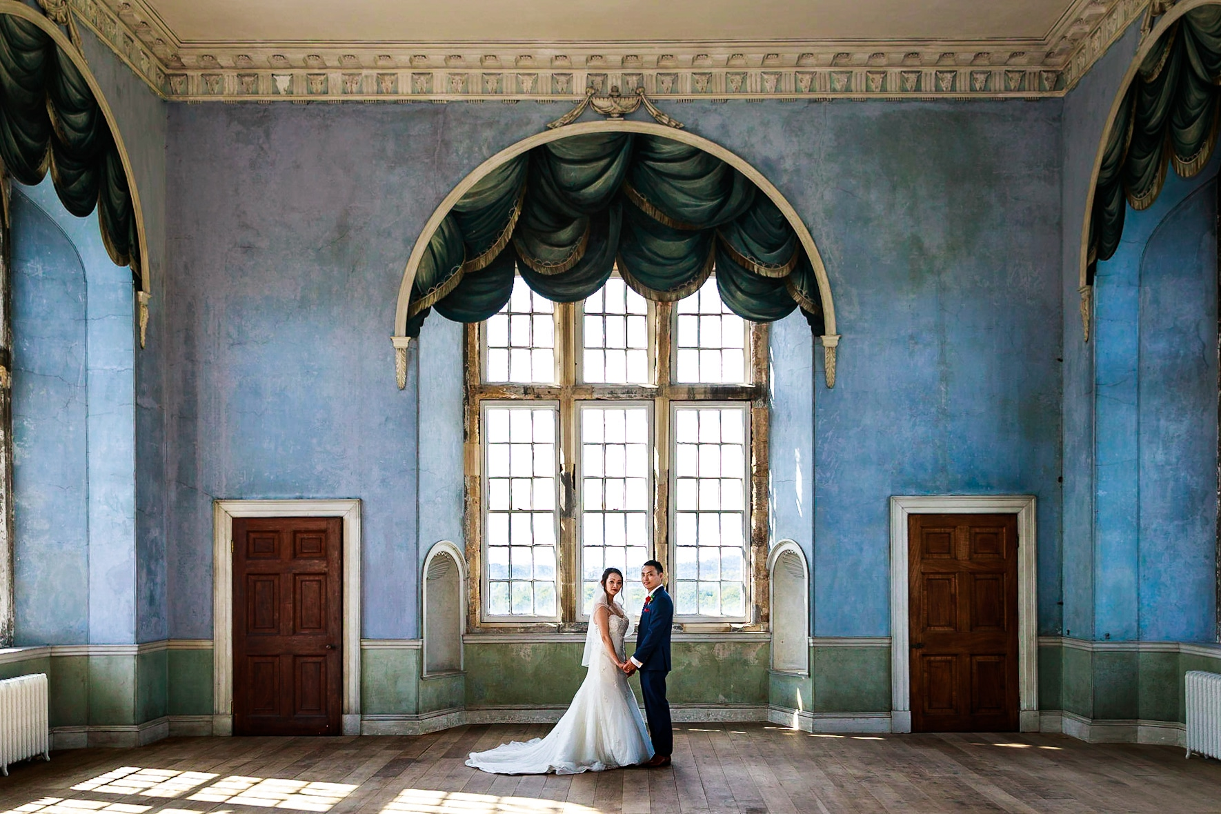Exclusive use of Wollaton Hall for this amazing Chinese wedding - The Prospect Room on the top floor, often out of bounds.