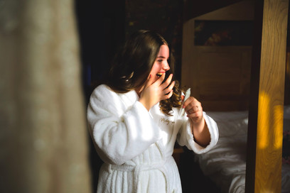 Wonderful natural light and documentary style photography at Morley Hayes. Bridal prep with no stress - natural photos by Daniel Burton Photography