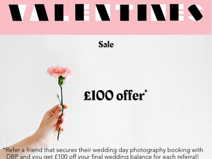 Valentines offer for new and existing wedding bookings!