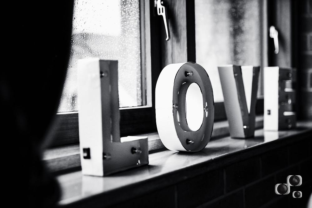 Love was in the air at a wedding at Breadsall Priory, Derby