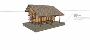 Pembangunan penampungan sederhana dusun Mundung Timur, desa Anggaraksa, kecamatan Pringgabaya, Lombo