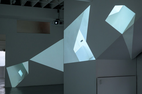 The Image Unfolds by Alex Walker at SEVENTH Gallery. Photo by Aaron Rees
