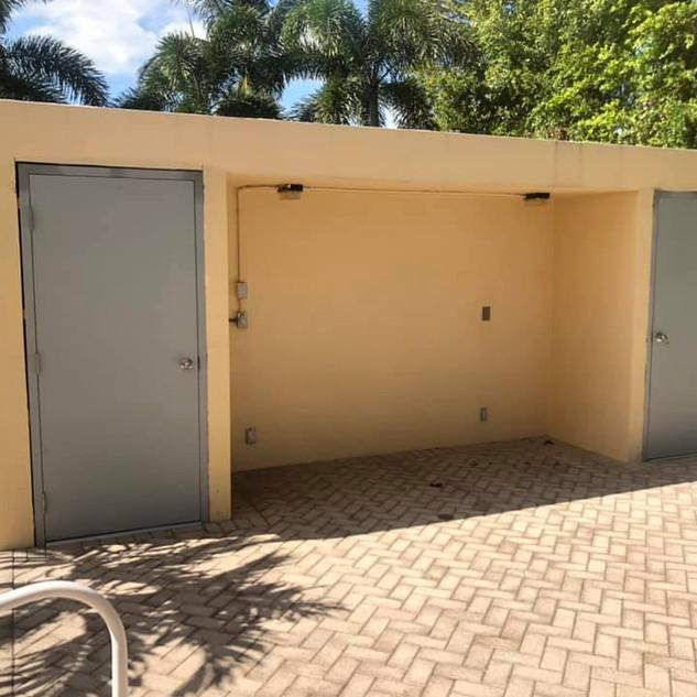 Pool doors