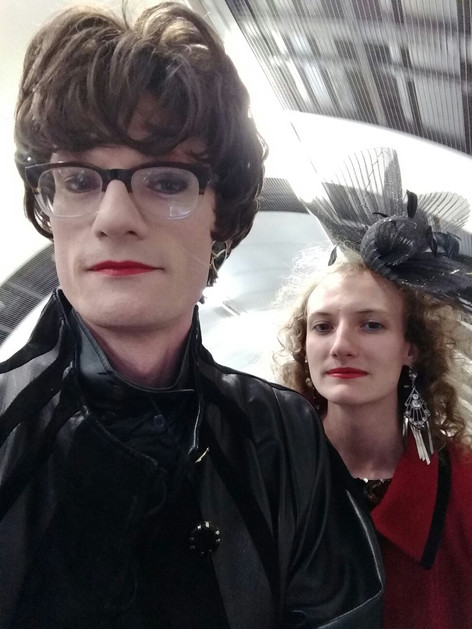Robyn and Margaret take public transport