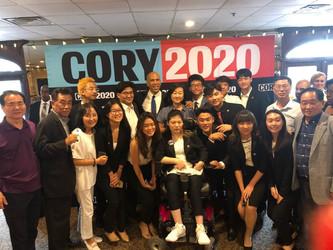 2019 뉴저지한인회 이사들과 차세대이사들의 코리부커 대선 캠페인 참석