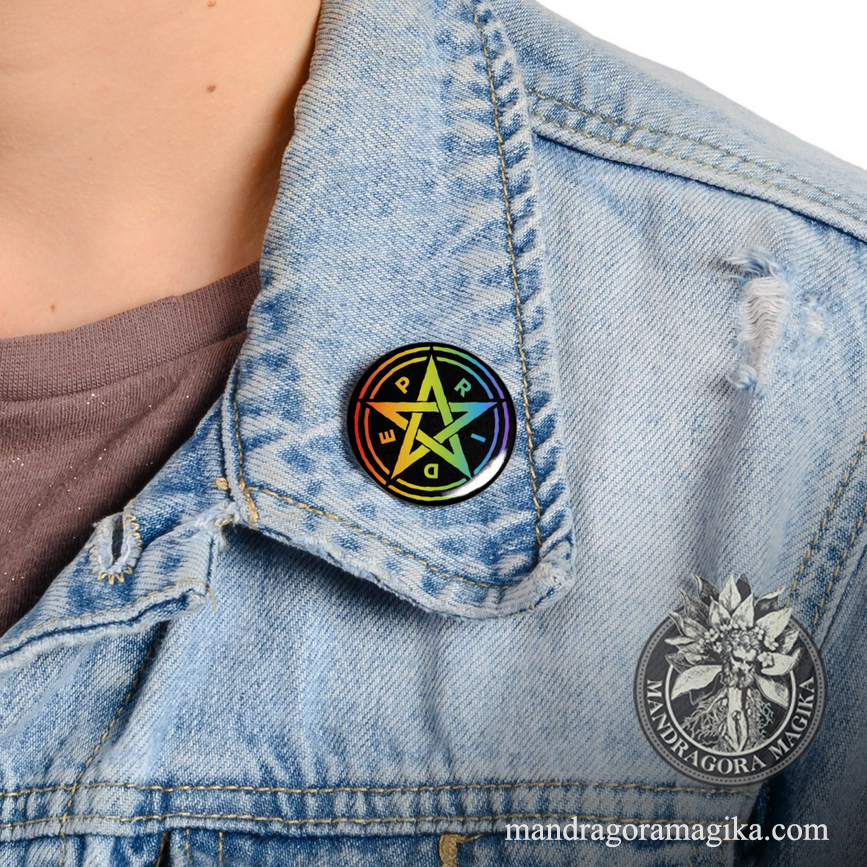Pride Pentagram Button