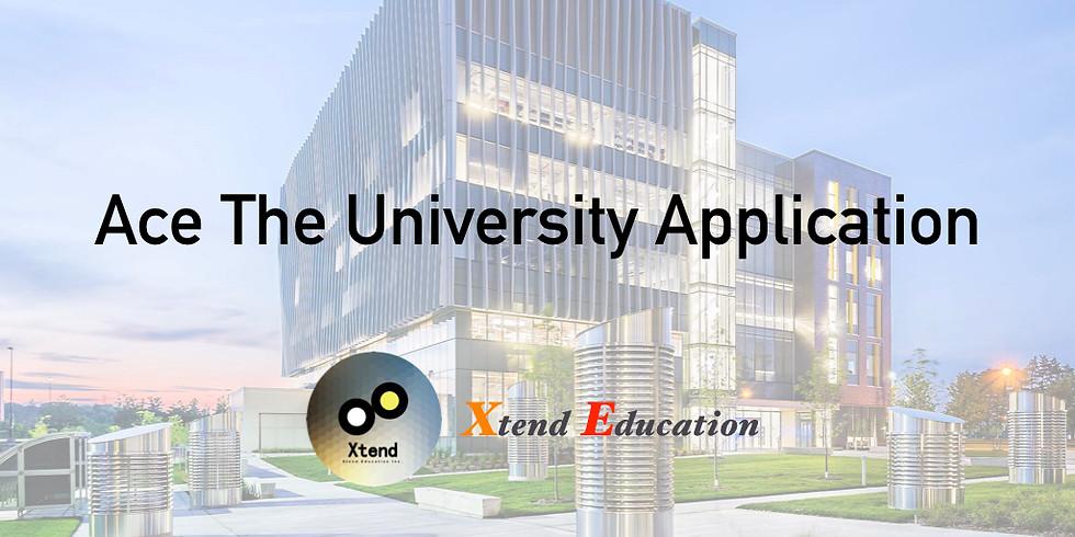 Ace The University Application Seminar