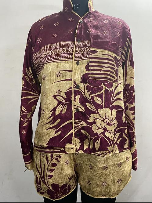 Short silk pyjama's