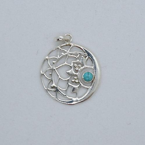 Blue House logo necklace