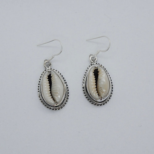Cowry earrings 2