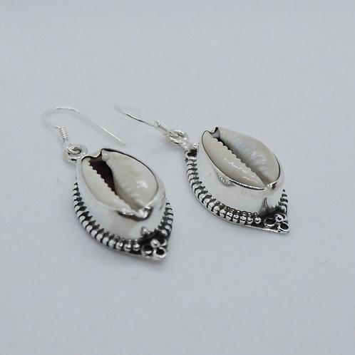 Cowry earrings 1