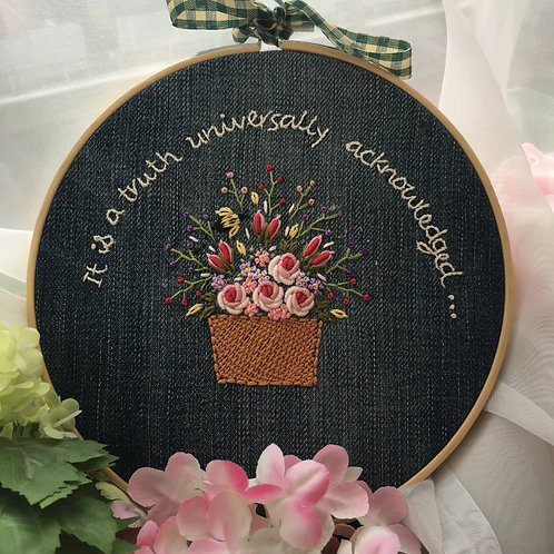 Hoop Quotes - Denim Basket