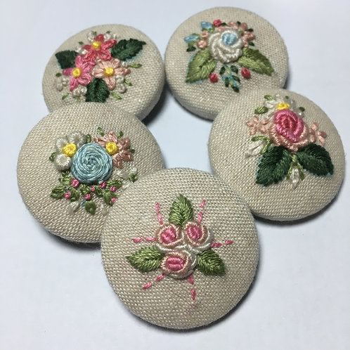 Posy Fabric Brooch Kit