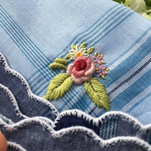 Retro Rose Handkerchief