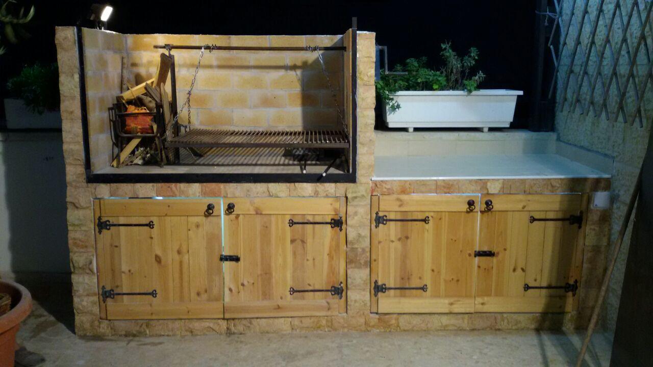 ארון למטבח בחצר / גינה