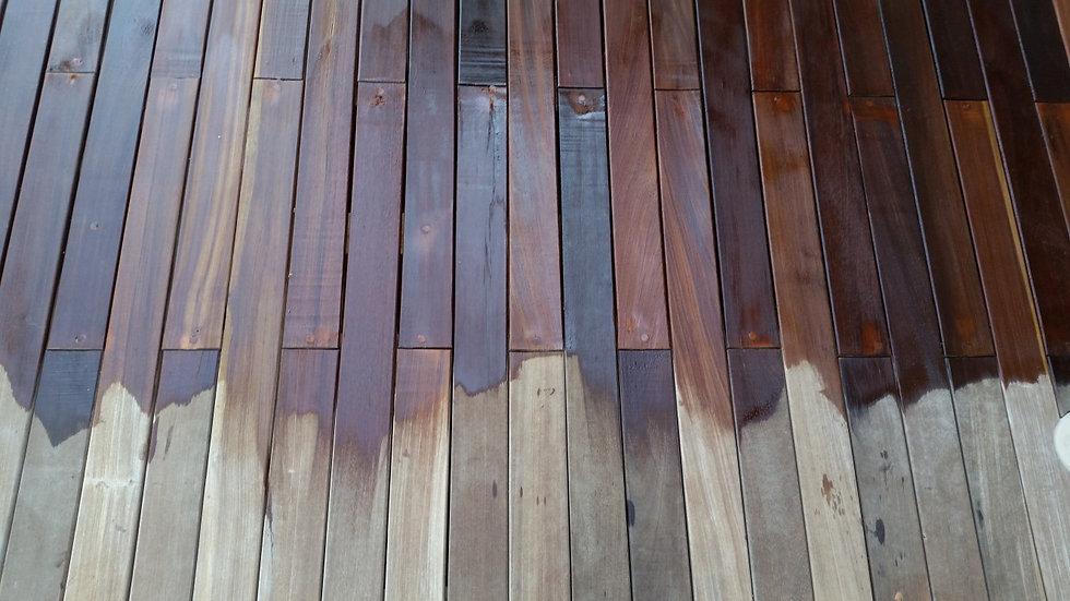 גגות אלפיים - שימון דק מעץ איפאה