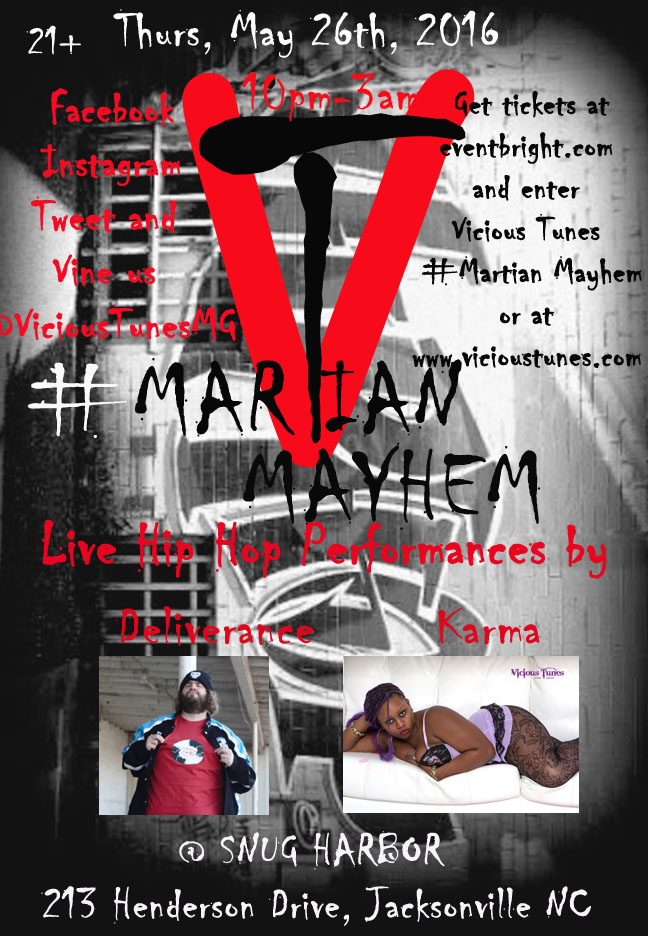 Vicious Tunes #Martian Mayhem Event