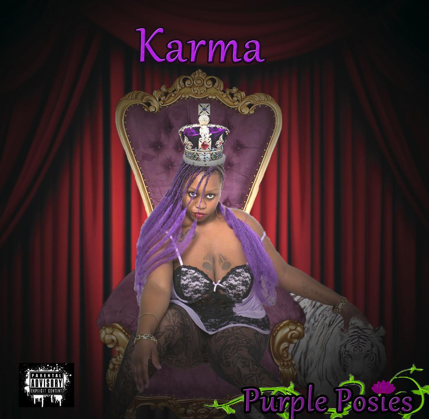 Karma- Purple Posies