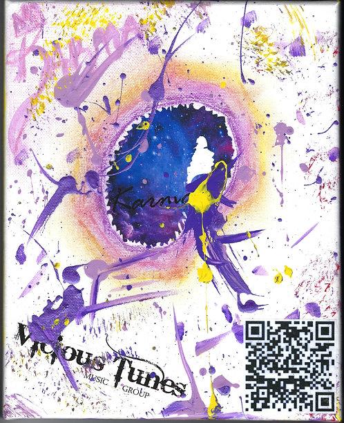 "Karma Signed Canvas Art Work 8x10"""
