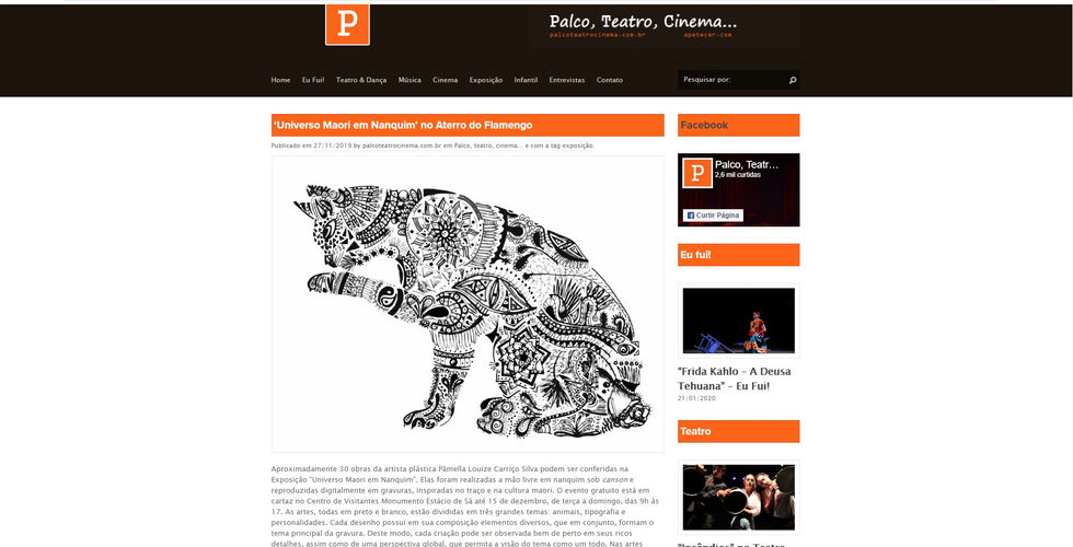Palco, Teatro, Cinema...