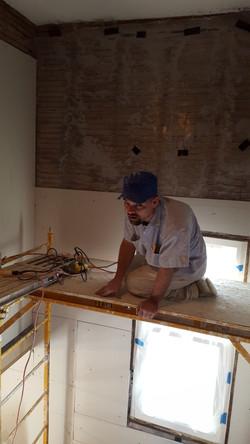 plaster stairwell