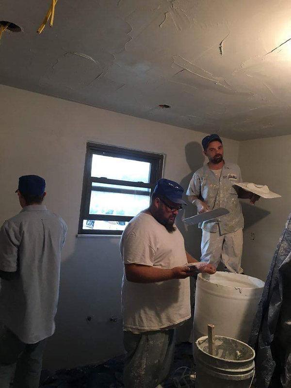 bedroom plaster repair