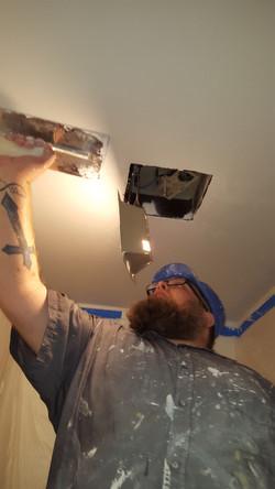 Smooth bathroom ceiling