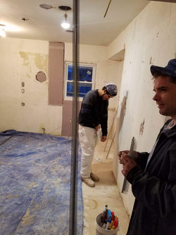 preparing for plaster