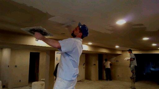 spreading plaster