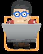 titan with laptop