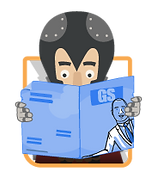titan reading a newspaper
