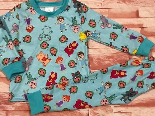 Blue coco pajama set