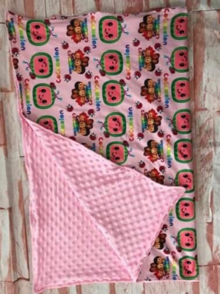 Pink coco blanket