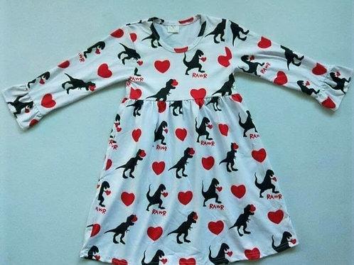 Dino Valentine's day dress